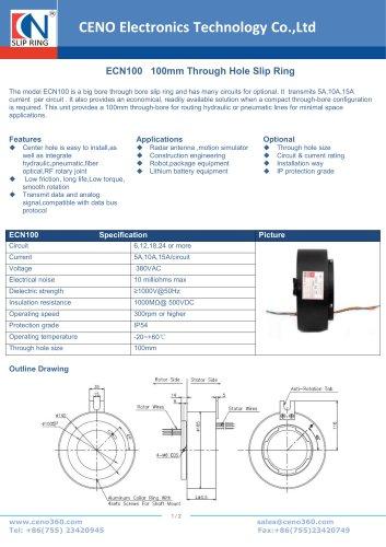 CENO Hollow shaft slip ring ECN100