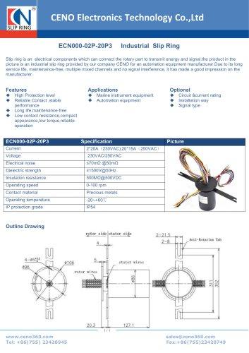 CENO Industrial Slip Ring ECN000-02P-20P3