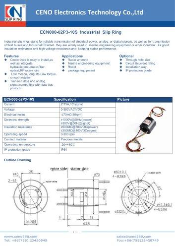 CENO Industrial Slip Ring ECN000-02P3-10S