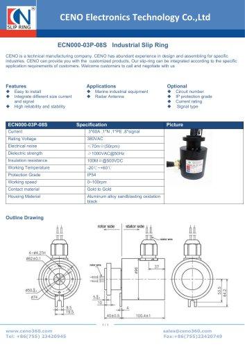 CENO Industrial slip ring ECN000-03P-08S