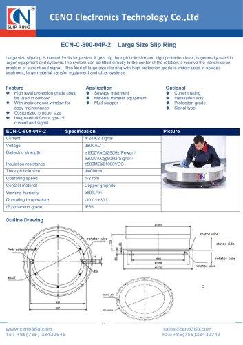 CENO Large Size Slip Ring ECN-C-800-04P-2