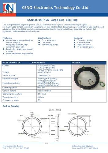 CENO Large size slip ring ECN435-04P-12S