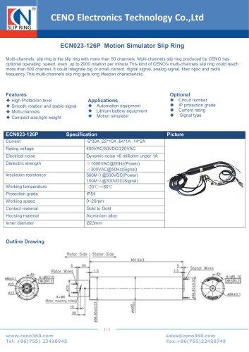 CENO Motion Simulator Slip Ring ECN023-126P