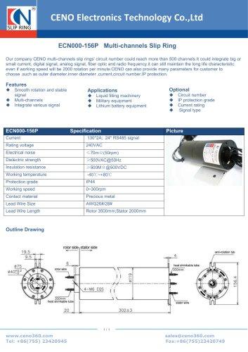 CENO Multi-channels Slip Ring ECN000-156P