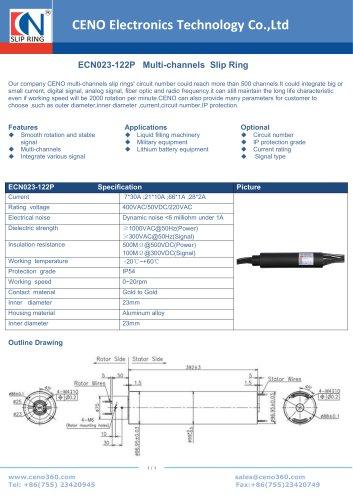 CENO Multi-channels Slip Ring ECN023-122P