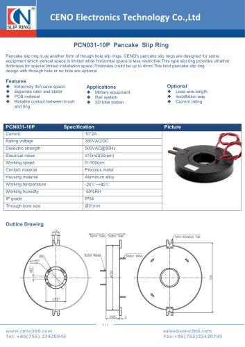 CENO Pancake slip ring PCN031-10P