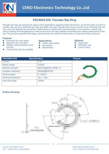CENO Pancake Slip Ring PSCN055-03S