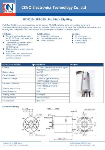 CENO Profi-Bus Slip Ring ECN025-18P2-26S
