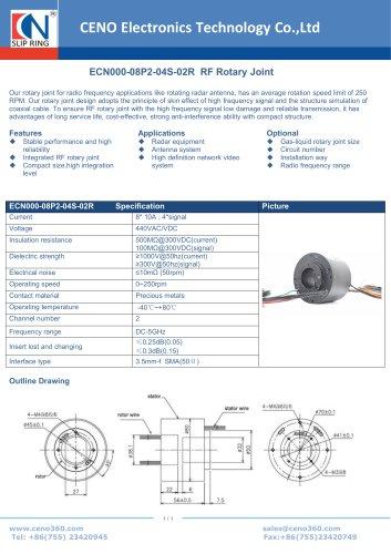 CENO RF Rotary Joint ECN000-08P2-04S-02R
