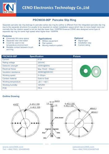 CENO  Separate Pancake slip ring PSCN030-06P
