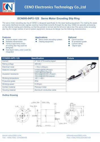 CENO Servo Motor Encoding Slip Ring ECN000-04P2-12S