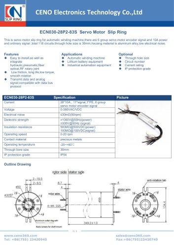 CENO Servo motor slip ring ECN030-28P2-83S