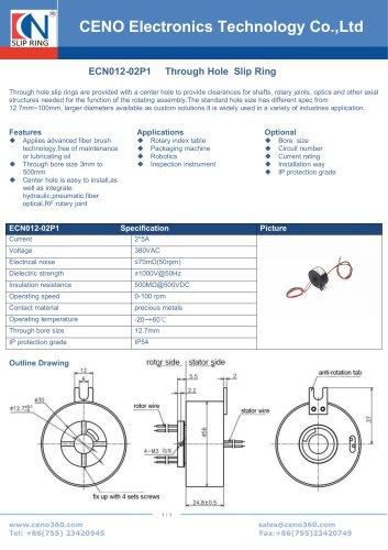 CENO Slip ring for torque measure instrument  ECN012-02P1