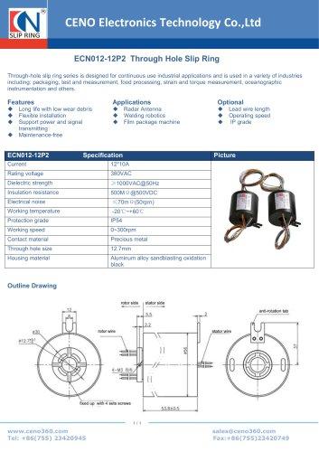 CENO Through Hole Slip Ring ECN012-12P2