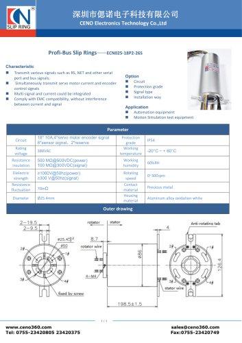CENO Through Hole Slip Ring ECN025-18P2-26S