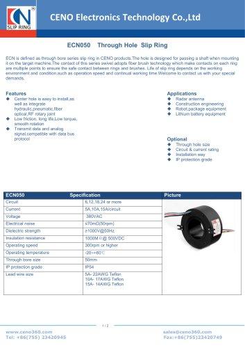 CENO Through Hole Slip Ring ECN050