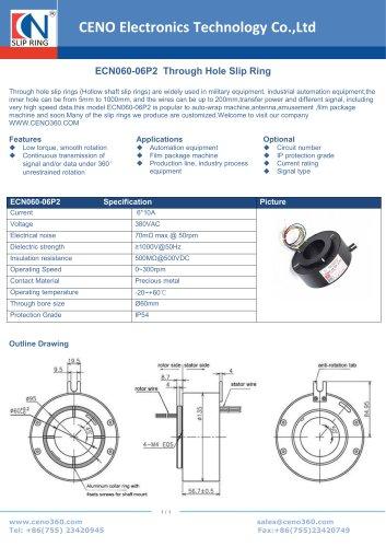 CENO Through hole slip ring ECN060-06P2