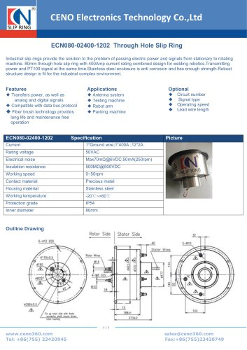 CENO Through Hole Slip Ring ECN080-02400-1202