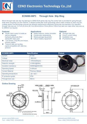 CENO Through Hole Slip Ring ECN080-06P3