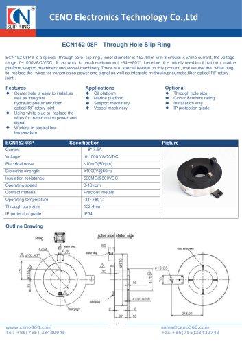 CENO Through Hole Slip Ring ECN152-08P