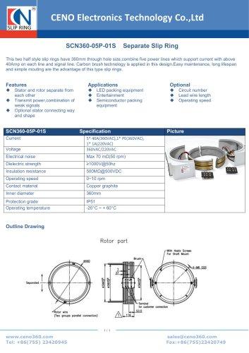 CENO Two half Separate Slip Ring SCN360-05P-01S