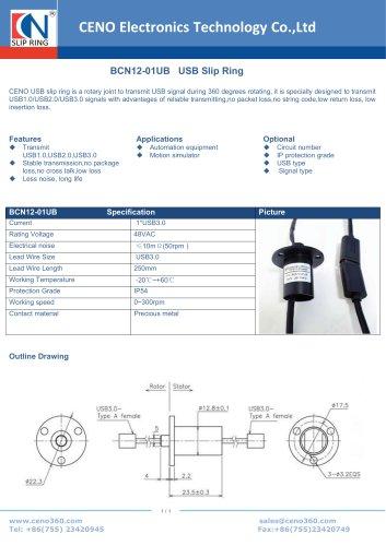 CENO USB slip ring BCN12-01UB
