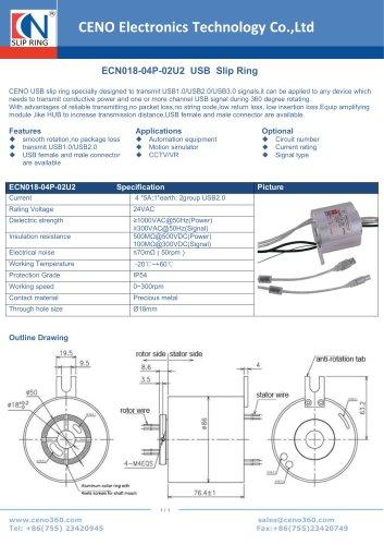 CENO USB slip ring ECN018-04P-02U2
