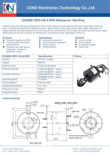 CENO water proof swivel ECN050-10P2-14S-A-IP65