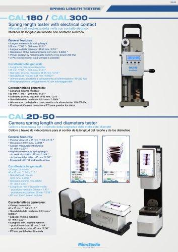 CAL180 / CAL300 Misuratore di lunghezza della molla con contatto elettrico