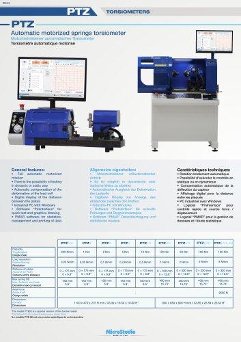PTZ Automatic motorized springs torsiometer