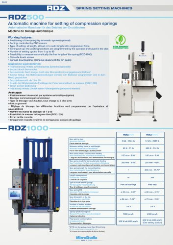 RDZ SPRING SETTING MACHINES