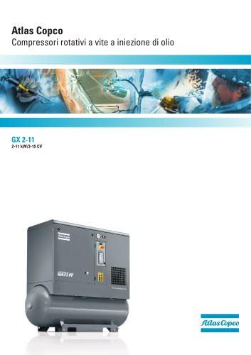 Atlas Copco Compressori rotativi a vite a iniezione di olio