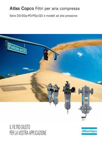 Atlas Copco Filtri per aria compressa Serie DD/DDp/PD/PDp/QD e modelli ad alta pressione