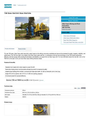 T3W Water Well Drill