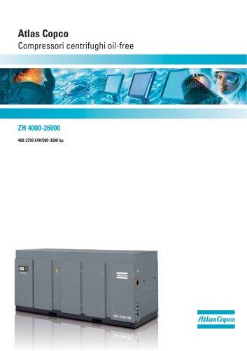 ZH 4000-26000 Atlas Copco Compressori centrifughi oil-free 400-2750 kW/500-3500 hp
