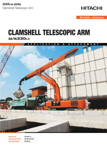 cLAMSHELL TELESCOPIC ARM