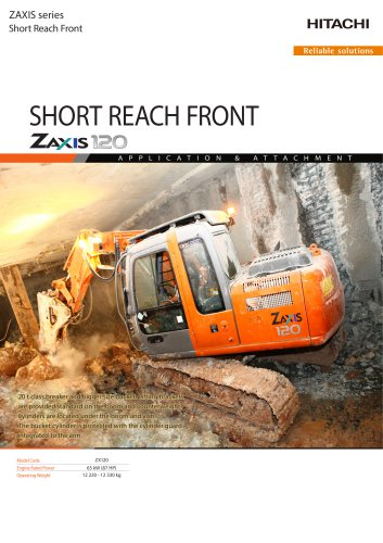 SHORT REACH FRONT ZAXIS 120