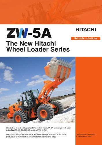 ZW-5 The New Hitachi  Wheel Loader Series