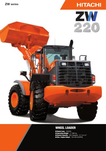 ZW series - Wheel Loaders