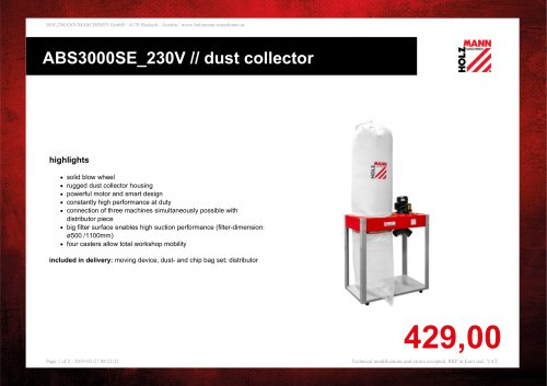 ABS3000SE_230V // dust collector