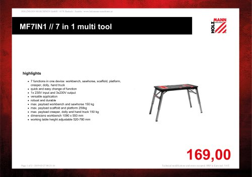 MF7IN1 // 7 in 1 multi tool