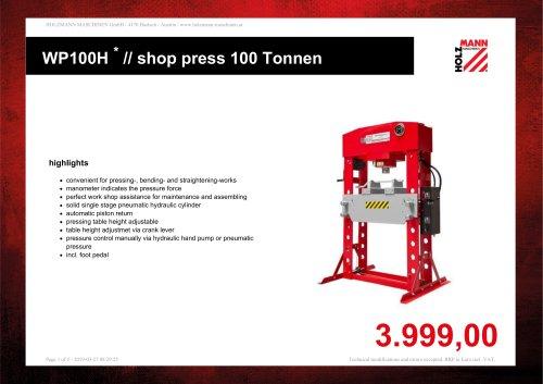 // shop press 100 Tonnen