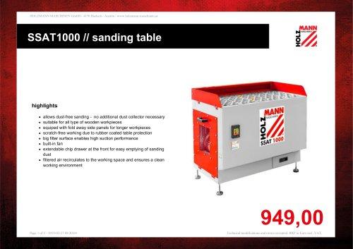 SSAT1000 // sanding table