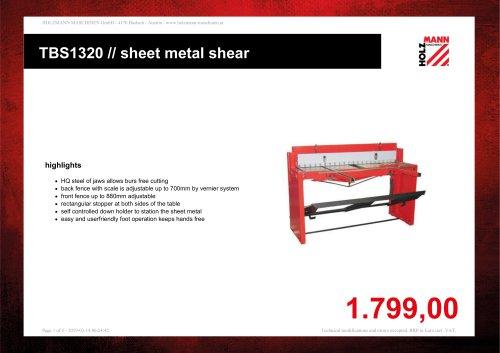 TBS1320 // sheet metal shear