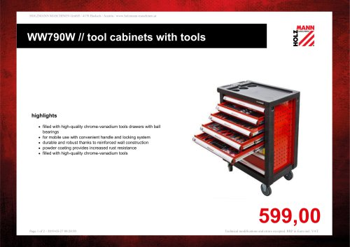 WW790W // tool cabinets with tools