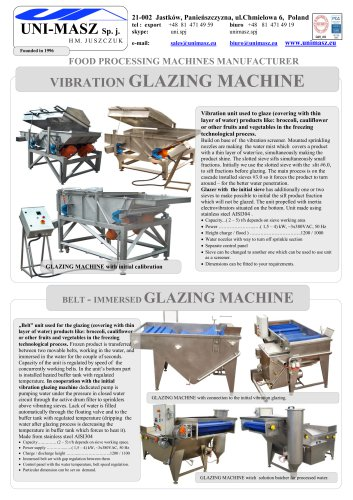 VIBRATION GLAZING MACHINE