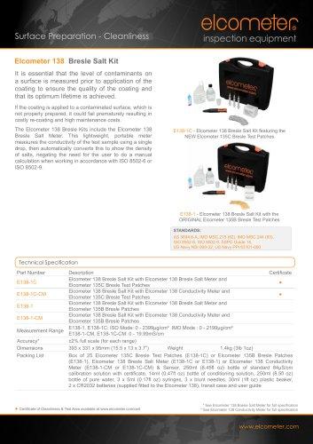 Elcometer 138 - Bresle Salt Kit