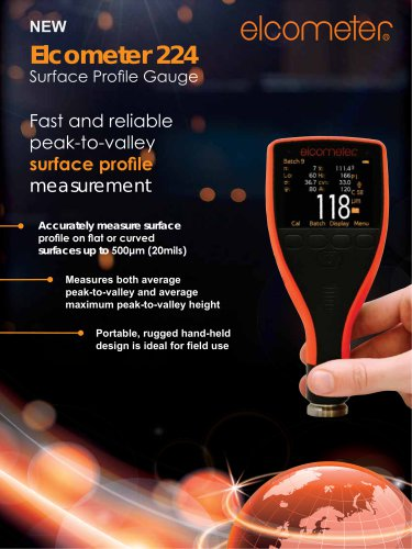 Elcometer 224 - surface profile gauge