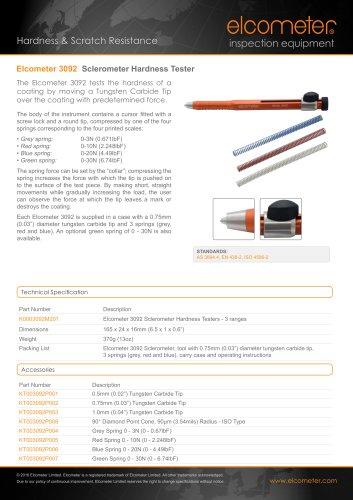 Elcometer 3092 - Sclerometer Hardness Tester
