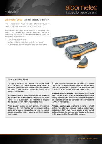 Elcometer 7000 - Digital Moisture Meter